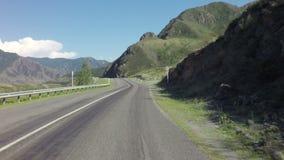 在Chuysky Trakt的旅行在阿尔泰山 影视素材