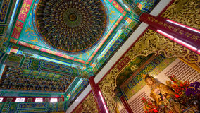 在Cinese新年期间, Thean后屿寺庙 库存图片
