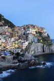 在Cinque土地的Manarola在意大利 免版税库存照片