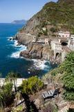 在Cinque美好的海岸线的美好的海岸线在Cinque Terre, 库存照片