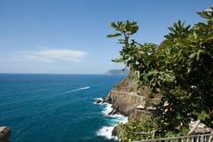 在Cinque美好的海岸线的美好的海岸线在Cinque Terre, 库存图片