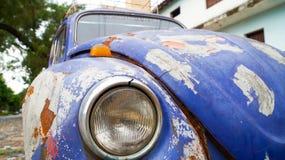 在Circuito de Oro的葡萄酒大众甲壳虫在巴拉圭 库存照片