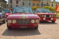 在Circuito di Zingonia的集会汽车2014年 库存照片