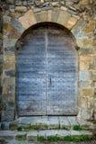 老中世纪门。 卡尔卡松 免版税库存图片