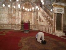 在Citadela供以人员祈祷在开罗,埃及 免版税图库摄影
