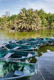 在Ciutadell aPark的小船在巴塞罗那 免版税库存图片