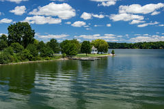 在Claytor湖国家公园,美国的眺望台 库存图片
