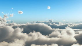 在cloudscape上的低速飞行 库存例证