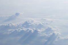 在cloudscape之上 库存图片