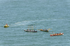 在Clovelly,德文郡的划艇 免版税库存照片