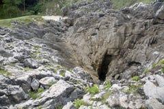 在Cobijeru海滩, Austurias的岩石 免版税库存照片