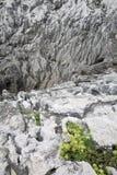 在Cobijeru海滩, Austurias的岩石 免版税图库摄影