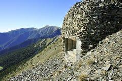 在colle di tenda的地堡wwI 免版税图库摄影