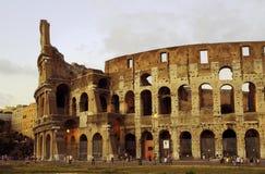 在Colloseum,罗马,意大利的日落 免版税库存照片