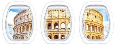 在Colosseo的舷窗窗口 库存图片