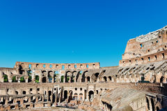 在Colosseum里面在罗马 库存照片