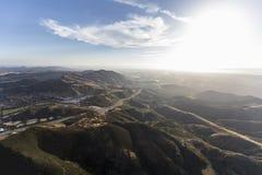 在Conejo等级南加州天线的维特纳高速公路 库存图片
