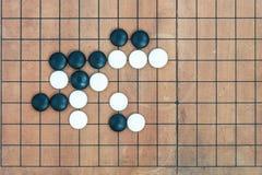在conner的基本的joseki去比赛板 免版税库存图片