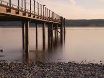 在Constance湖的栈桥  免版税库存照片