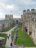 在Conwy城堡,威尔士的看法 库存照片