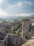 在Conwy城堡,威尔士的看法 免版税库存照片