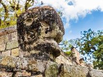 在Copan废墟的一个典型的看法在洪都拉斯 库存图片