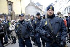 在COPENHAGEN_SYNAGOGUE的恐怖 免版税库存照片
