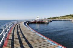 在Corio海湾,吉朗的装门的swmming的水池 库存图片