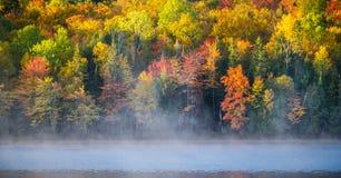 在Corry湖反射的10月颜色 库存图片