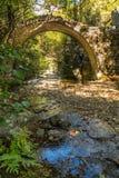 在Corscia附近的Ponte Sottano桥梁在可西嘉岛 免版税库存照片