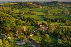 在Corton Denham,萨默塞特,英国的春天 库存照片