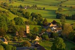 在Corton Denham,萨默塞特,英国的春天 图库摄影
