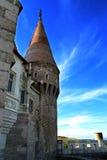 在Corvin的城堡里面的一个塔 库存图片