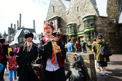 在cosplay的巫术师的没有权利的日语 免版税库存照片