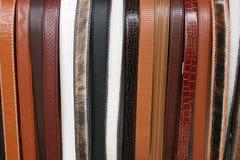 在Cotacachi的手工制造皮带 免版税库存照片