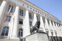在Courth议院的狮子雕象 免版税库存照片