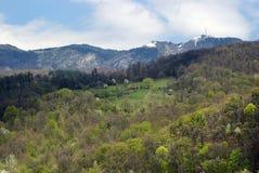 在Cozia山的Sheepfold 库存图片