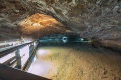 在Craighead洞穴里面的失去的海 免版税库存图片