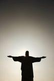 在Cristo Redentor的黄昏 免版税库存照片
