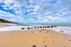 在Cromer的海滩 免版税库存图片