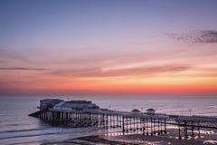 在Cromer码头的4月黎明 库存照片