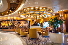 在Cruiseship的内部 库存照片
