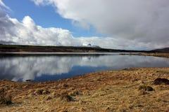 在Cul平均观测距离,西北苏格兰高地的冬天雪 免版税库存照片