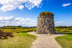 在Culloden战场的纪念石标  库存图片