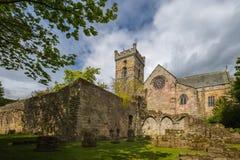 在Culross修道院的废墟 库存图片