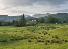 在Cumbria途中的议院 库存照片