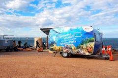在CuttleFest的海岸公园SA有蓬卡车 免版税库存图片