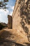 在cyrpus的利马索尔老城镇城堡 免版税图库摄影