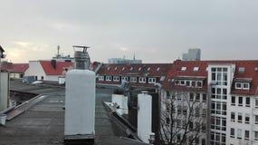在DÃ ¼ sseldorf的早晨 免版税图库摄影