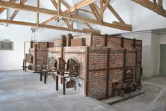 在Dachau 1的火葬场 免版税库存照片